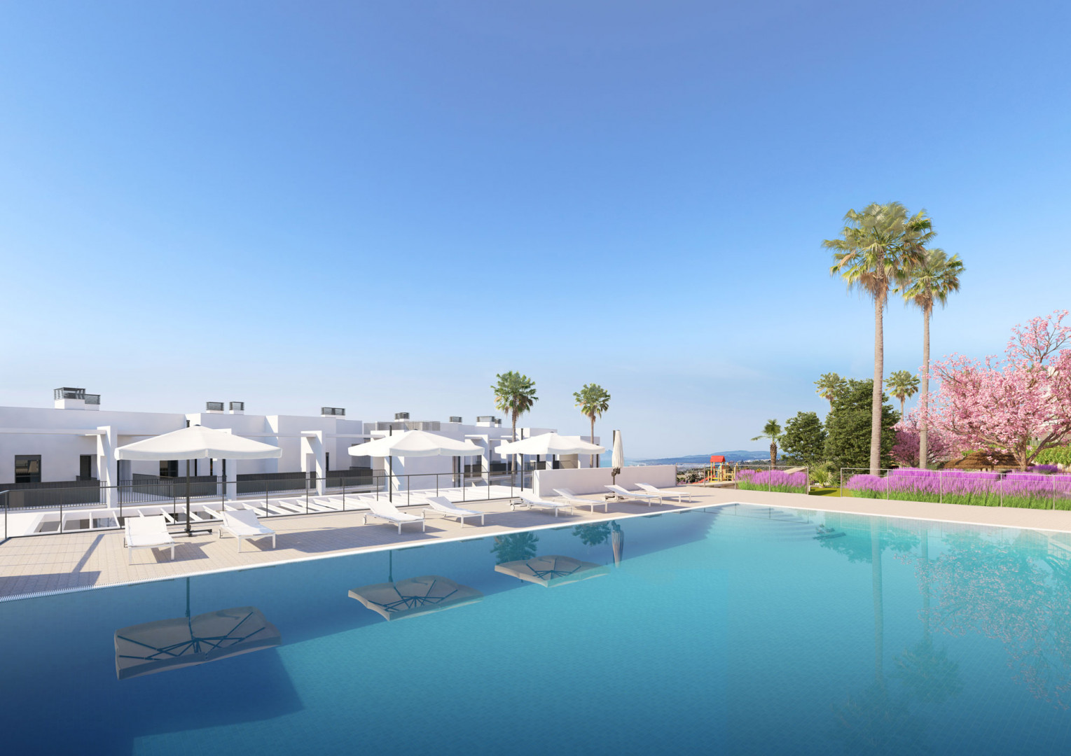 A chic development of just 46 apartments in Manilva